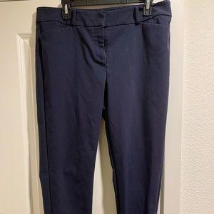 LOFT Julie navy business ankle pants